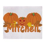 Halloween Pumpkin Mitchell Throw Blanket
