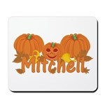 Halloween Pumpkin Mitchell Mousepad