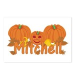 Halloween Pumpkin Mitchell Postcards (Package of 8
