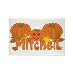 Halloween Pumpkin Mitchell Rectangle Magnet