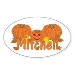 Halloween Pumpkin Mitchell Sticker (Oval)