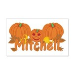 Halloween Pumpkin Mitchell 20x12 Wall Decal