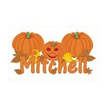 Halloween Pumpkin Mitchell 35x21 Wall Decal