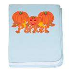 Halloween Pumpkin Parker baby blanket