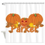 Halloween Pumpkin Parker Shower Curtain
