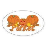 Halloween Pumpkin Parker Sticker (Oval)