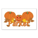 Halloween Pumpkin Parker Sticker (Rectangle)