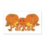 Halloween Pumpkin Parker 20x12 Wall Decal