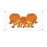 Halloween Pumpkin Parker Banner
