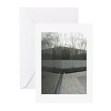 Vietnam war memorial wall reflection Greeting Card