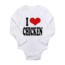 ilovechickenblk.png Long Sleeve Infant Bodysuit