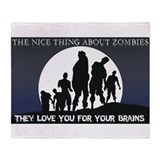 Zombie Love Throw Blanket