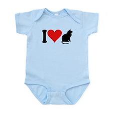 3-ilovecatsblk.png Infant Bodysuit