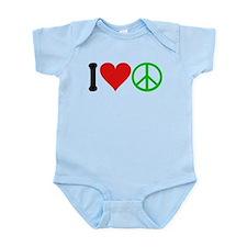 3-ilovepeaceblk.png Infant Bodysuit