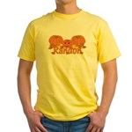 Halloween Pumpkin Randon Yellow T-Shirt