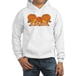 Halloween Pumpkin Randon Hooded Sweatshirt