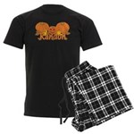 Halloween Pumpkin Randon Men's Dark Pajamas