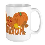 Halloween Pumpkin Randon Large Mug