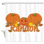 Halloween Pumpkin Randon Shower Curtain