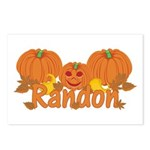 Halloween Pumpkin Randon Postcards (Package of 8)