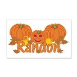 Halloween Pumpkin Randon 20x12 Wall Decal