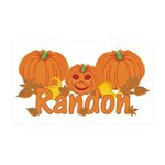 Halloween Pumpkin Randon 35x21 Wall Decal