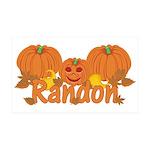 Halloween Pumpkin Randon 35x21 Wall Decal