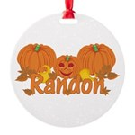 Halloween Pumpkin Randon Round Ornament