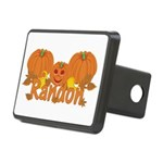 Halloween Pumpkin Randon Rectangular Hitch Cover