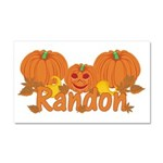 Halloween Pumpkin Randon Car Magnet 20 x 12