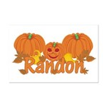 Halloween Pumpkin Randon Mini Poster Print