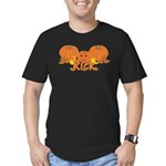 Halloween Pumpkin Rick Men's Fitted T-Shirt (dark)