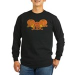 Halloween Pumpkin Rick Long Sleeve Dark T-Shirt