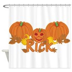 Halloween Pumpkin Rick Shower Curtain