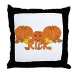Halloween Pumpkin Rick Throw Pillow