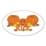 Halloween Pumpkin Rick Sticker (Oval)