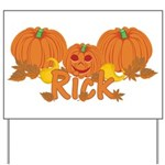 Halloween Pumpkin Rick Yard Sign