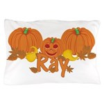 Halloween Pumpkin Ray Pillow Case
