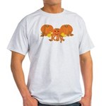 Halloween Pumpkin Ray Light T-Shirt