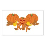 Halloween Pumpkin Ray Sticker (Rectangle)