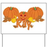 Halloween Pumpkin Ray Yard Sign