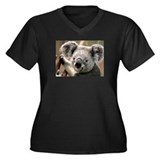 Cute Koala bear Women's Plus Size V-Neck Dark T-Sh