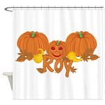 Halloween Pumpkin Roy Shower Curtain