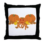 Halloween Pumpkin Roy Throw Pillow
