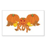 Halloween Pumpkin Roy Sticker (Rectangle)