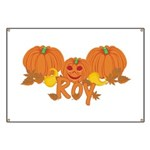 Halloween Pumpkin Roy Banner