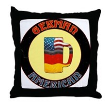 German American Beer Stein Throw Pillow