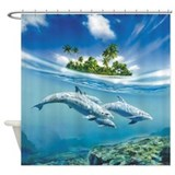 Tropical Island Fantasy Shower Curtain