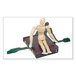 Rowing Briefcase Sticker (Rectangle 50 pk)