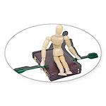 Rowing Briefcase Sticker (Oval 50 pk)